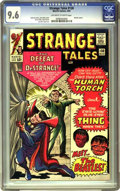 CGC Graded Comics - Strange Tales #130 (CGC) - Man - Cartoons - Poster - Superheros - Strange