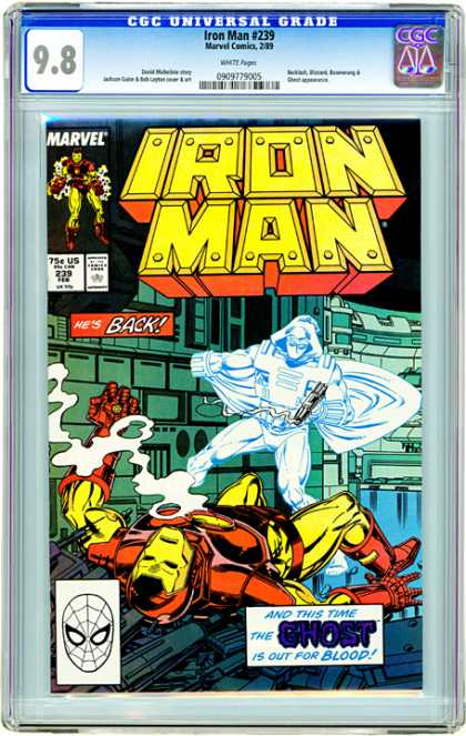 CGC Graded Comics - Iron Man #239 (CGC) - Iron Man - Marvel - The Ghost - Smoke - Blood