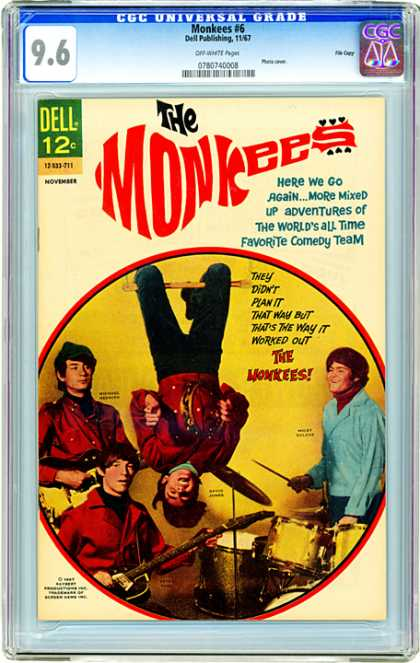 CGC Graded Comics - Monkees #6 (CGC) - The Monjees - Adventures - Universal Grade - Dell Publishing - Comedy Team