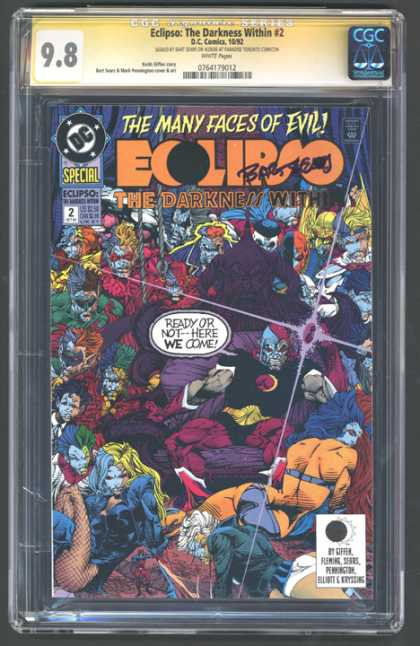 CGC Graded Comics - Eclipso: The Darkness Within #2 (CGC) - Eclipso The Darkness Within 2 - Special - Ready Or Not--here We Come - Many Faces Of Evil - Autographed