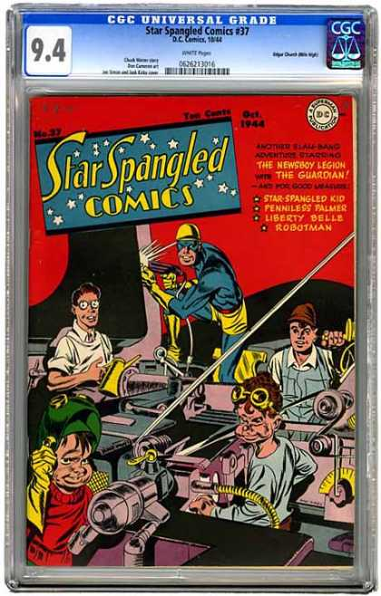 CGC Graded Comics - Star Spangled Comics #37 (CGC)