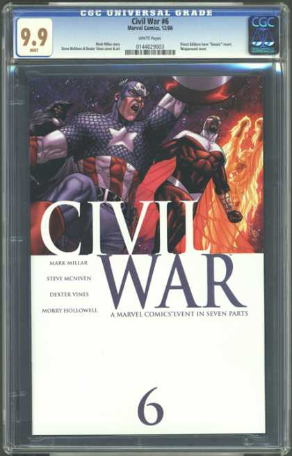 CGC Graded Comics - Civil War #6 (CGC) - Part 6 - Captain America - Mark Millar - Dexter Vines - Morry Hollowell