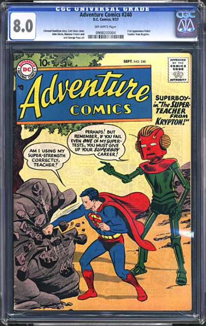 CGC Graded Comics - Adventure Comics #240 (CGC)
