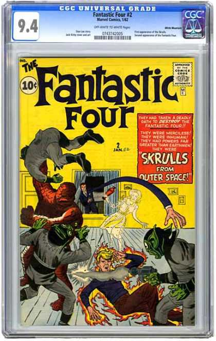 CGC Graded Comics - Fantastic Four #2 (CGC) - Fantastic Four - The Thing - Villian - Mr Fantastic - Martians