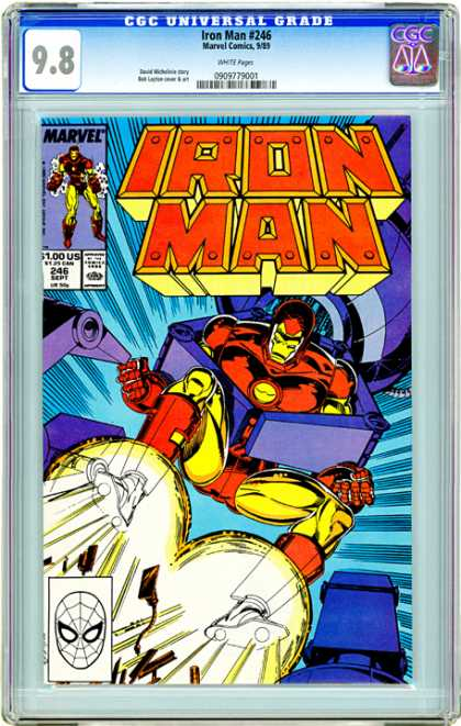 CGC Graded Comics - Iron Man #246 (CGC) - Iron Man - Superheroe - Marvel - Robot - Mechanic Arm