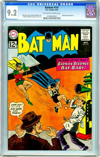 CGC Graded Comics - Batman #147 (CGC) - Batboy - Dr Evil - Bat Baby - Bat Baby And Robin - Shrunken