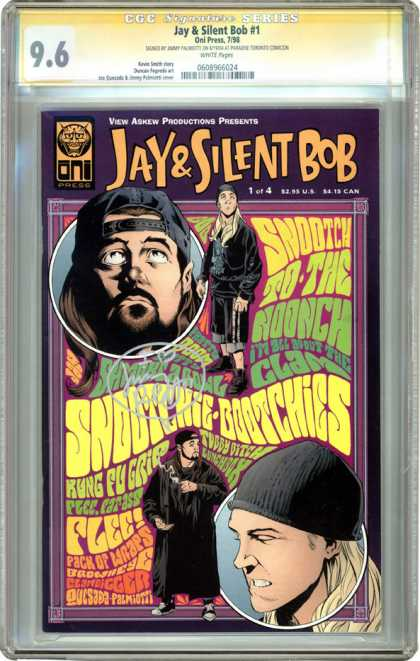 CGC Graded Comics - Jay & Silent Bob #1 (CGC) - Kung Fu - Grip - Lunchbox - Tubby - Pack Of Wraps