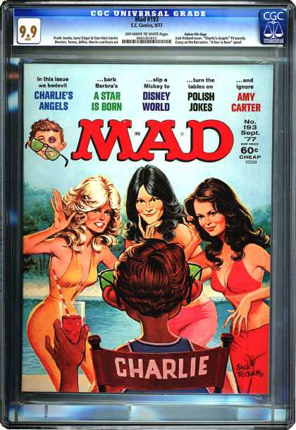 CGC Graded Comics - Mad #193 (CGC) - Charlie - Water - Girls - Drink - Sunglasses