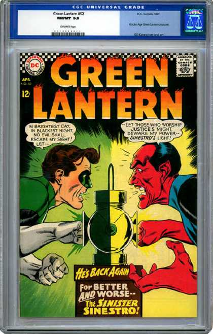 CGC Graded Comics - Green Lantern #52 (CGC) - Anger - American - Green Lantern - Super Hero - Science Fiction