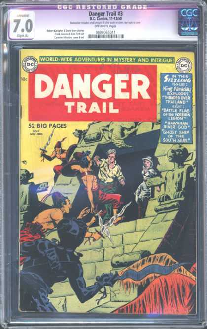 CGC Graded Comics - Danger Trail #3 (CGC) - Danger Trail - 52 Big Pages - Sword - Dccomics - Superman