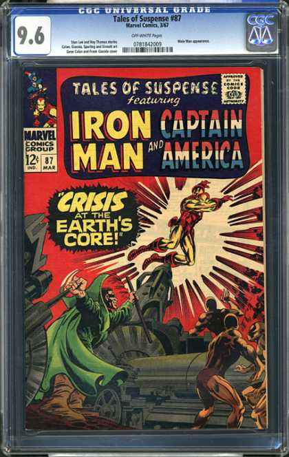 CGC Graded Comics - Tales of Suspense #87 (CGC) - Marvel - Marvel Comics - Iron Man - Captain America - Crisis