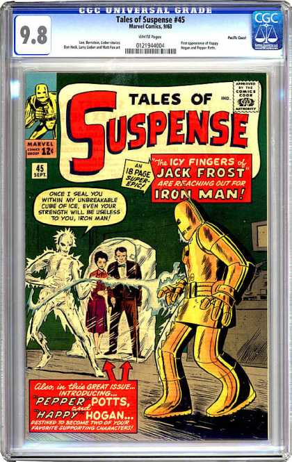 CGC Graded Comics - Tales of Suspense #45 (CGC) - Suspense - Comics Code - Marvel - Man - Pepper