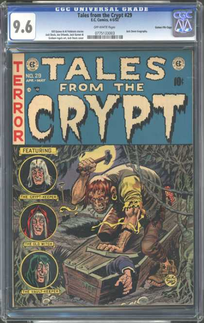 CGC Graded Comics - Tales from the Crypt #29 (CGC) - Horror - Ec Comics - Silver Age - Cgc Graded - Crypt Keeper