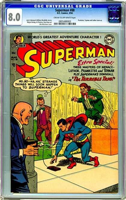CGC Graded Comics - Superman #88 (CGC) - The Terrible Trio - Luther - Prankster - Toyman - Superman