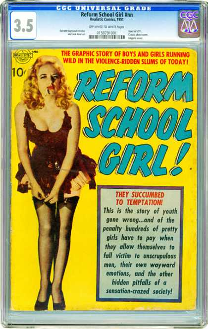 CGC Graded Comics - Reform School Girl #nn (CGC) - Bimbo - Stockings - Cigarette - Garters - Lipstick