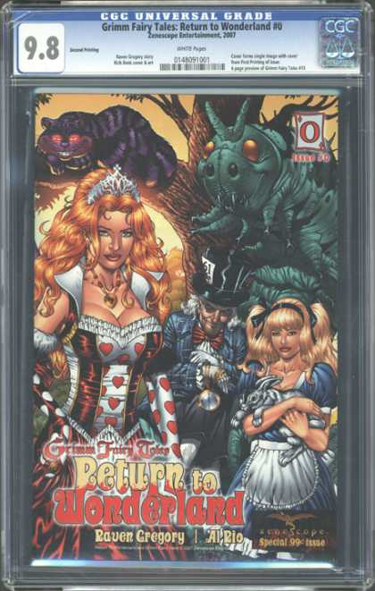 CGC Graded Comics - Grimm Fairy Tales: Return to Wonderland #0 (CGC) - Cgc 98 Rating - Return To Wonderland - Raven Gregory - Grimm Fairy Tales - Special 99 Cent Issue