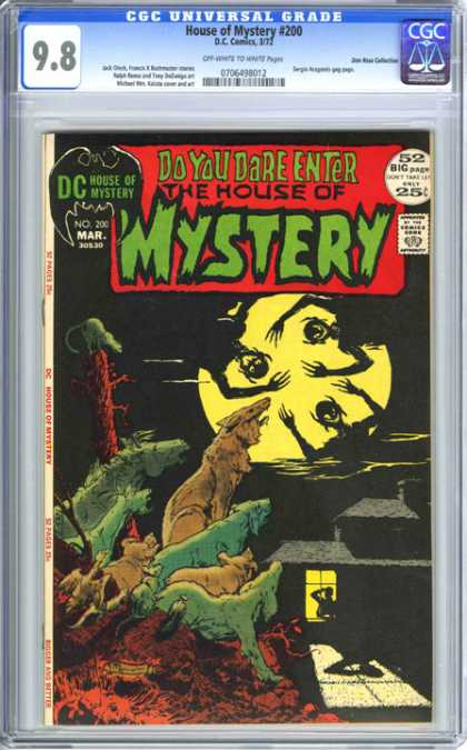CGC Graded Comics - House of Mystery #200 (CGC) - Dc - House Of Mystery - March - Full Moon - Wolf