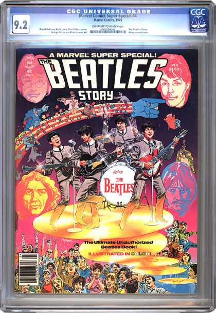 CGC Graded Comics - Marvel Comics Super Special #4 (CGC) - The Beatles - Marvel Super Special - Band - Stage - Performing