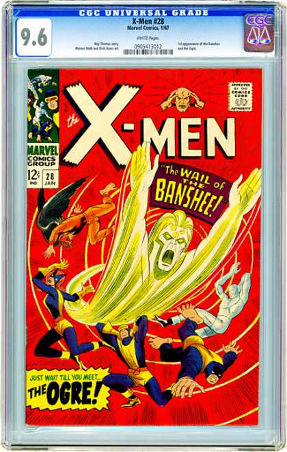 CGC Graded Comics - X-Men #28 (CGC) - Wall - Banshee - January - Ogre - Twelve Cents