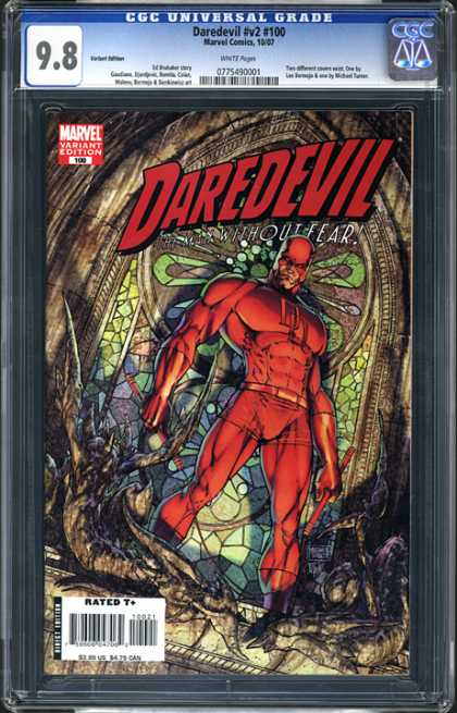 CGC Graded Comics - Daredevil #v2 #100 (CGC) - Marvel - Daredevil - Superhero - Red Costume - Stained Glass