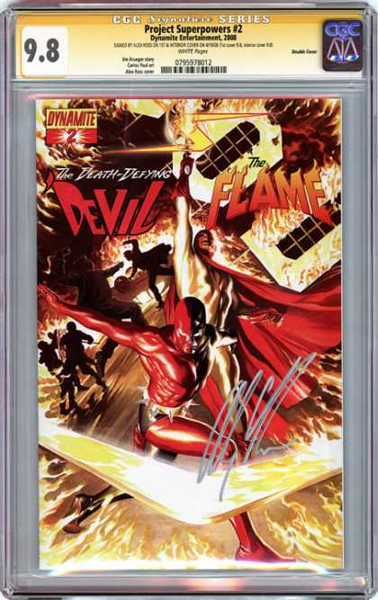 CGC Graded Comics - Project Superpowers #2 (CGC) - Devil - Fire - Red Cape - Boomerang - Lightening Bolts