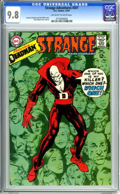 CGC Graded Comics - Strange Adventures #207 (CGC) - Strange Adventures - 207 - Deadman - Killer - Comics