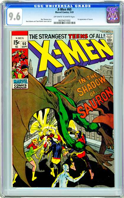 CGC Graded Comics - X-Men #60 (CGC) - The Strangest Teens Of All - In The Shadow Of Sauron - Bat - 60 Sept - X-men