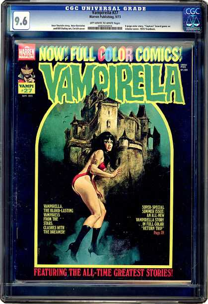 CGC Graded Comics - Vampirella #27 (CGC) - Vampiress - Haunted House - All Time Greatest Stories - Full Color - Super-special Summer Issue