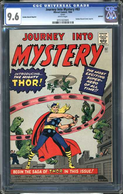 CGC Graded Comics - Journey Into Mystery #83 (CGC) - Journey Into Mystery - Thor - Super Hero - Fighting - Saga