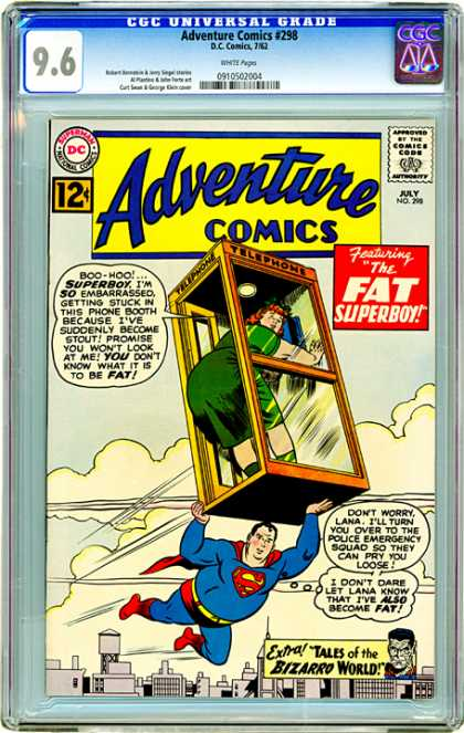 CGC Graded Comics - Adventure Comics #298 (CGC) - Fat - Comics - Boo-hoo - Superboy - Bizzaro