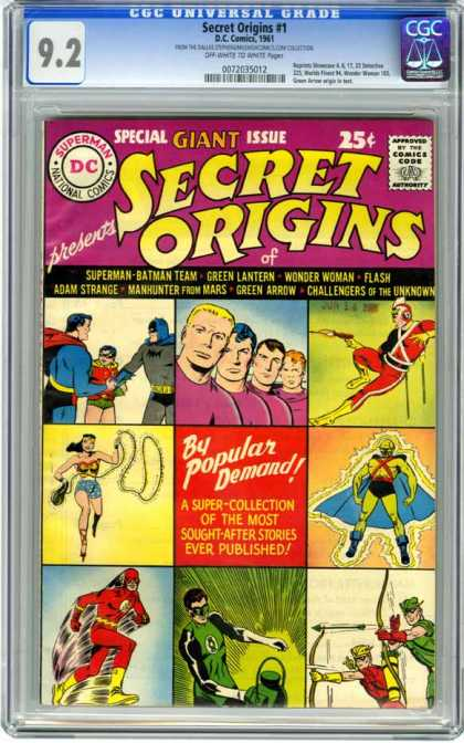CGC Graded Comics - Secret Origins #1 (CGC) - Dc - Secret Origins - Green Lantern - Wonder Woman - Flash