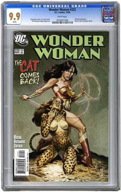 CGC Graded Comics - Wonder Woman #222 (CGC) - Black Hair - The Cat Comes Back - 222 - Dc Comics - Snyder