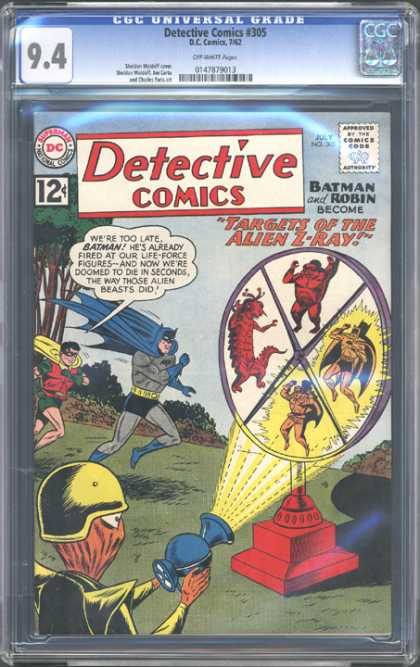 CGC Graded Comics - Detective Comics #305 (CGC) - Targets Of The Alien Z-ray - Batman - Robin - Life-force - Firing
