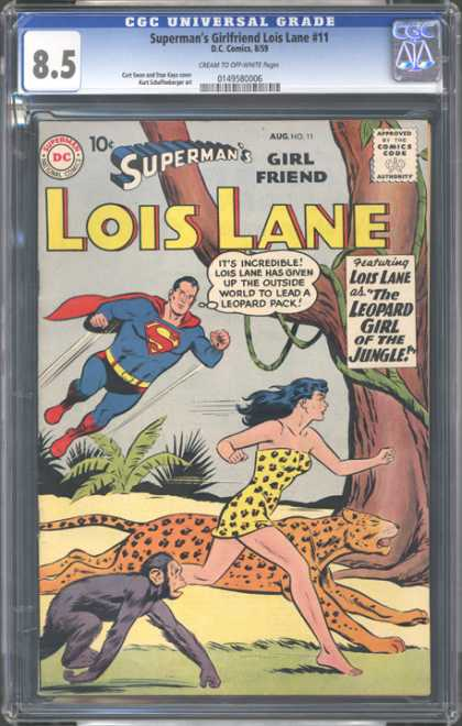 CGC Graded Comics - Superman's Girlfriend Lois Lane #11 (CGC) - Superman - Lois Lane - Leopard Girl - Jungle - Leopard U0026 Monkey