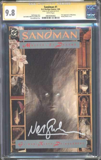 CGC Graded Comics - Sandman #1 (CGC) - Sandman - Master A Dream - Sand Glass - Butterfly - Flowers