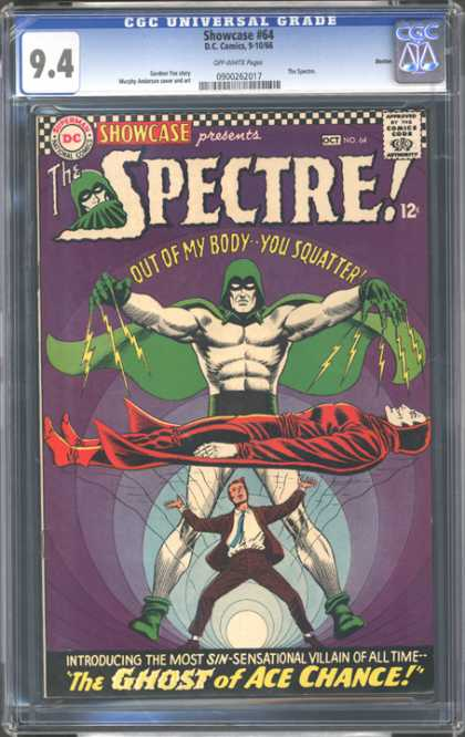 CGC Graded Comics - Showcase #64 (CGC) - Spectre - Out Of My Body You Squatter - The Ghost Of Ace Chance - Levitating Man - Green Mask