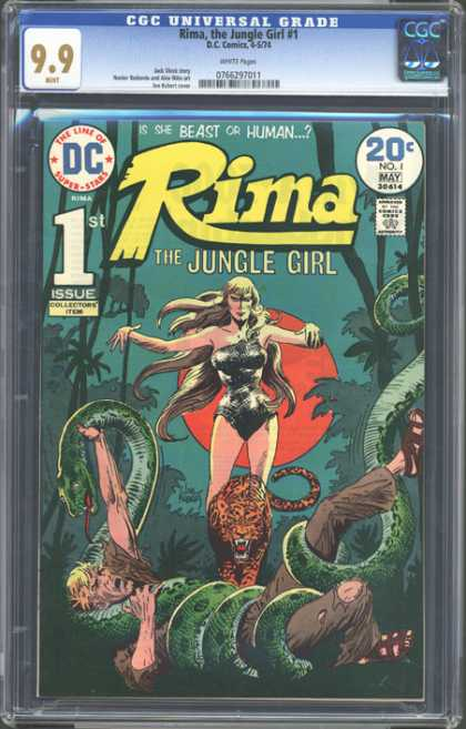 CGC Graded Comics - Rima, the Jungle Girl #1 (CGC) - Cgc Universal Grade - Rima The Jungle Girl - 1st Issue Collectors Item - Is She Berast Or Human - Snake