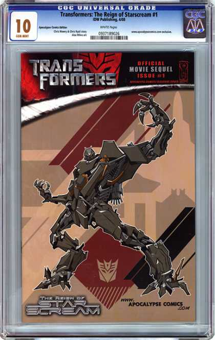 CGC Graded Comics - Transformers: The Reign of Starscream #1 (CGC) - Transformers - Starscream - Apocalypse Comics - Issue 1 - Mechanical Parts