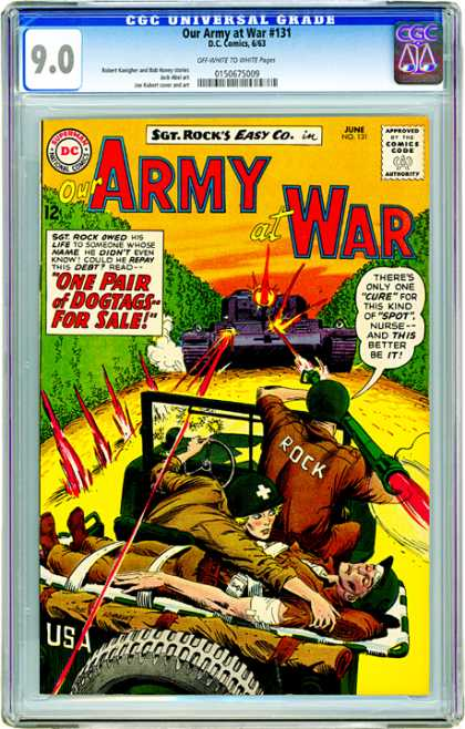 CGC Graded Comics - Our Army at War #131 (CGC)