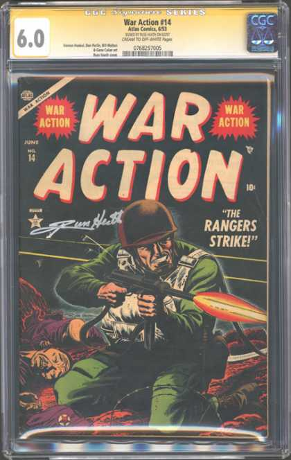 CGC Graded Comics - War Action #14 (CGC)