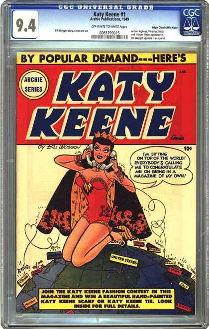 CGC Graded Comics - Katy Keene #1 (CGC) - Phone - Women - Globe - Fashion - Pretty