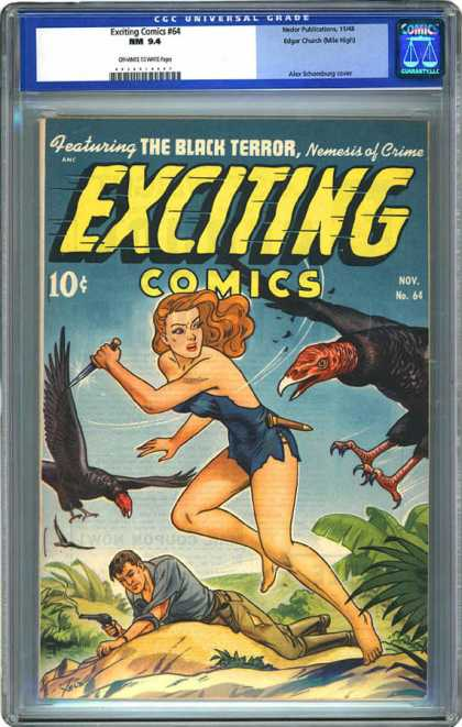 CGC Graded Comics - Exciting Comics #64 (CGC)