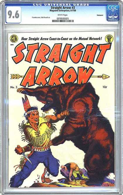CGC Graded Comics - Straight Arrow #3 (CGC)