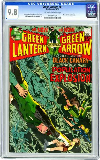 CGC Graded Comics - Green Lantern #81 (CGC) - Green Lantern - Green Arrow - Dc - Superheros - Black Canary