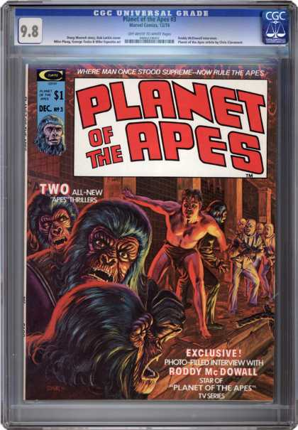 CGC Graded Comics - Planet of the Apes #3 (CGC) - Planet Of The Apes - Roddy Mcdowall - Cgc - Apes - Universal Grade