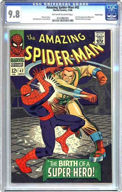 CGC Graded Comics - Amazing Spider-Man #42 (CGC) - The Amazing Spiderman - The Birth Of A Hero - Marvel Comics Group - Punch - Duck Down