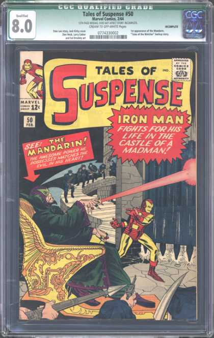 CGC Graded Comics - Tales of Suspense #50 (CGC) - Iron Man - The Mandarin - Castle - Gate - Throne