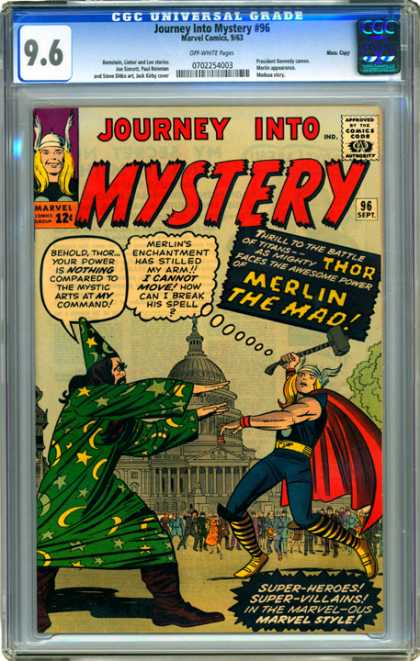 CGC Graded Comics - Journey Into Mystery #96 (CGC) - Journey Into Mystery - Merlin The Mad - Super -heroes - Hammer