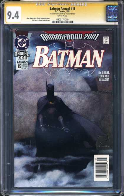 CGC Graded Comics - Batman Annual #15 (CGC) - Cgc Hologram - Batman - Dc - Bonded - Smokey