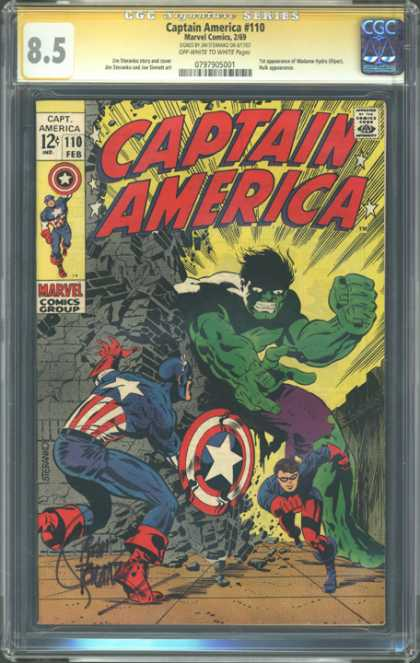 CGC Graded Comics - Captain America #110 (CGC)